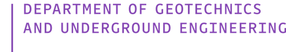 Department of Geotechnics and Underground Engineering
